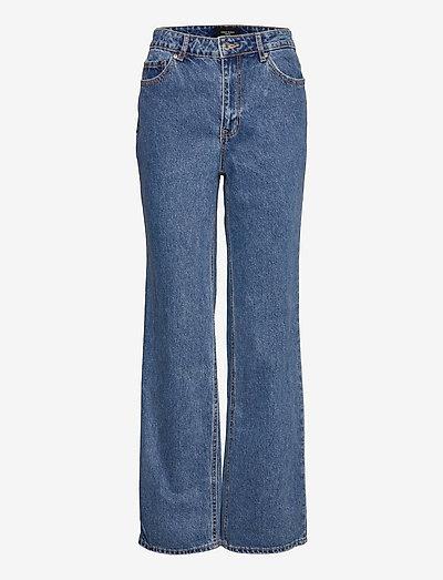 VMKITHY HR LOOSE STRAIGHT LI368 GA - straight jeans - medium blue denim