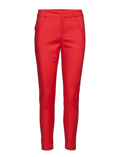 VMVICTORIA MR ANTIFIT ANKLE PANTS COLOR - CHINESE RED