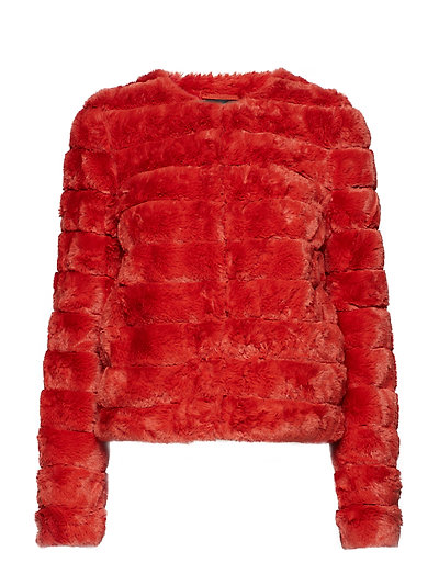 VMAVENUE FAUX FUR SHORT JACKET BOOS - KETCHUP