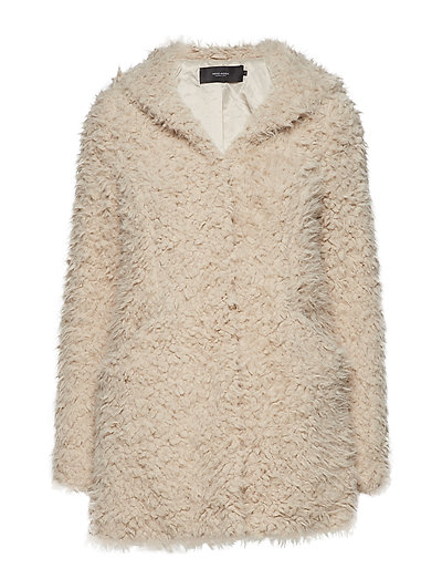 VMHOOD JAYLA FAUX FUR JACKET - OATMEAL