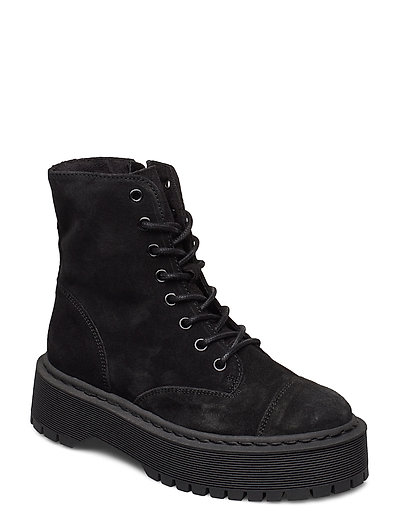 Vmpath Leather Boot Shoes Boots Ankle Boots Ankle Boot - Flat Schwarz VERO MODA