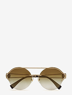 WOMEN'S SUNGLASSES - PALE GOLD/GRADIENT BROWN MIRROR GOLD