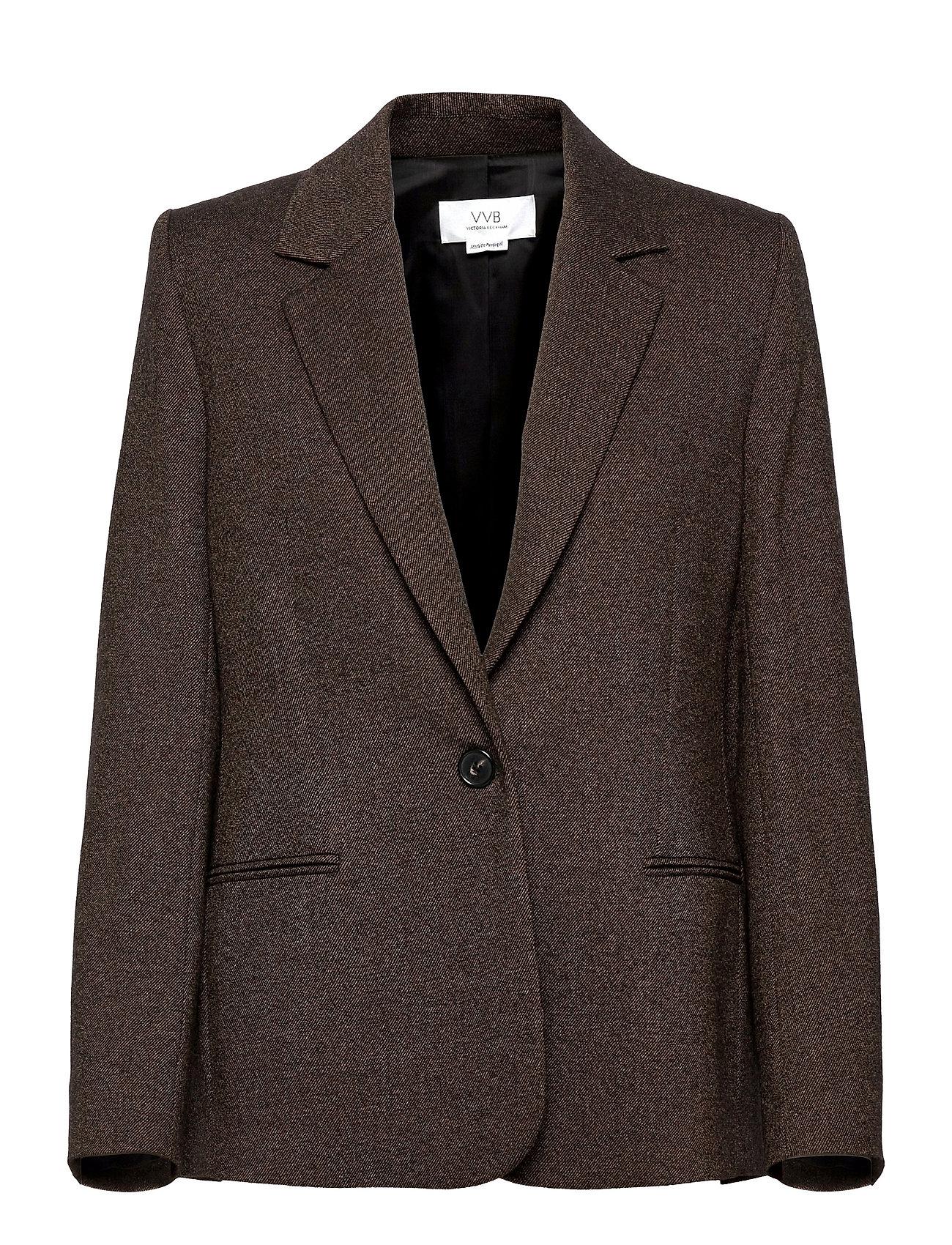 Fitted Jacket Blazers Over D Blazers Brun Victoria Victoria Beckham