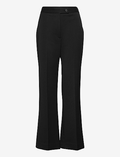 High Waist Cropped Lightweight Stretch Trouser - spodnie - black