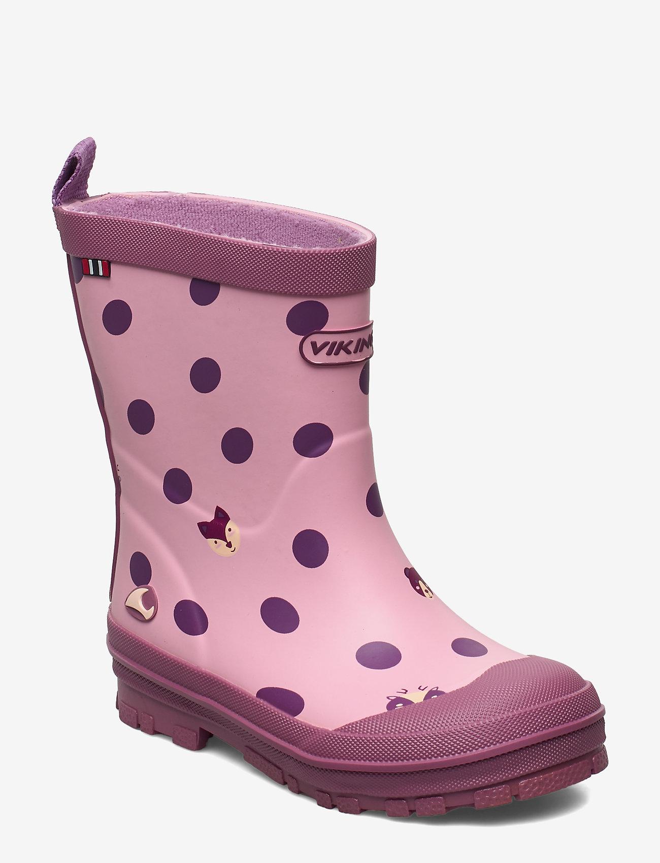 Viking - Hidden Animals - unlined rubberboots - pink - 0