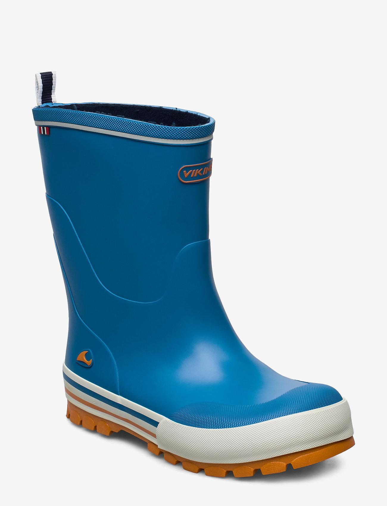 Viking - Jolly - unlined rubberboots - blue/orange - 0