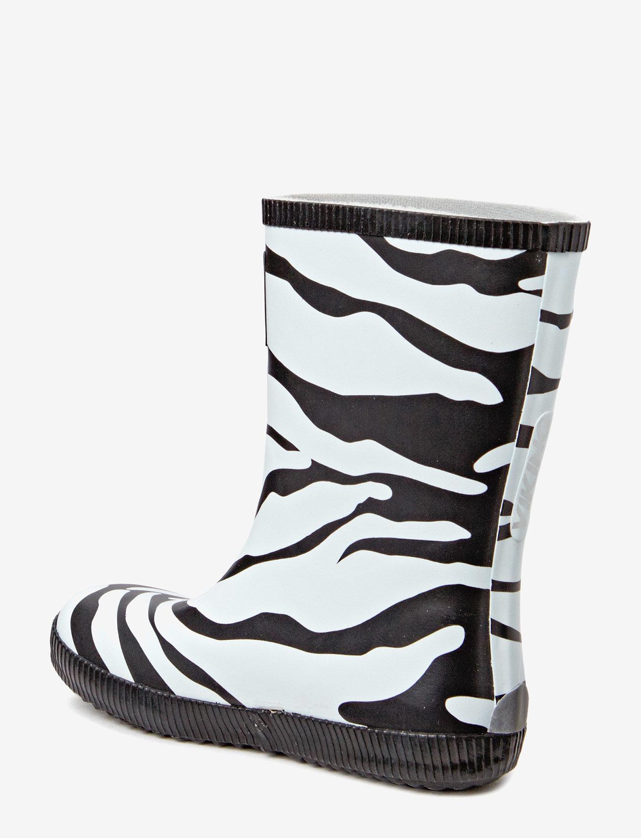 Viking - Classic Indie Zebra - kalosze - black/white - 1