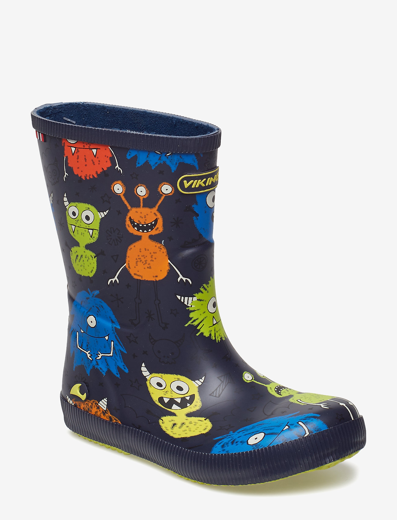 Viking - CLASSIC INDIE MONSTERS - unlined rubberboots - navy/lime - 0