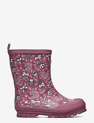 Viking - Jolly Woodland - unlined rubberboots - dark pink/multi - 1