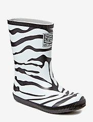 Viking - Classic Indie Zebra - kalosze - black/white - 0