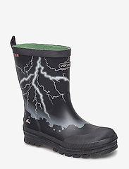 Viking - Lyn - gummistøvler - black/green - 0