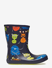 Viking - CLASSIC INDIE MONSTERS - unlined rubberboots - navy/lime - 1