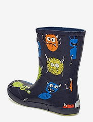 Viking - CLASSIC INDIE MONSTERS - unlined rubberboots - navy/lime - 2