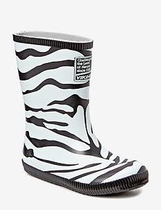 Classic Indie Zebra - rubberboots - black/white