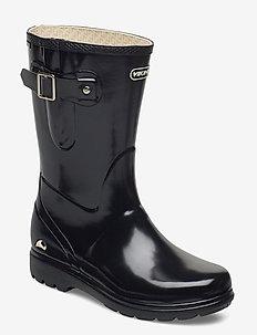 Mira Jr. Glossy - rubberboots - black