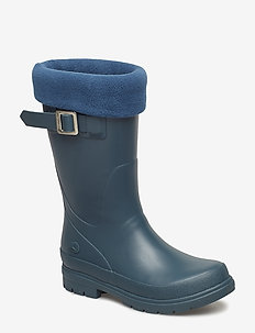 VENDELA JR. W/FLEECE SOCK - bottes en chaouthouc - dark green