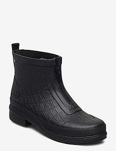 Gyda Croco Zipper - sko - black