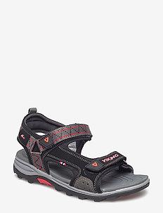 Sandoey - sandals - black/red