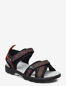 Loppa - sandals - black/dark grey