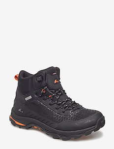 Rask GTX W - vandrings- & promenadskor - black/orange