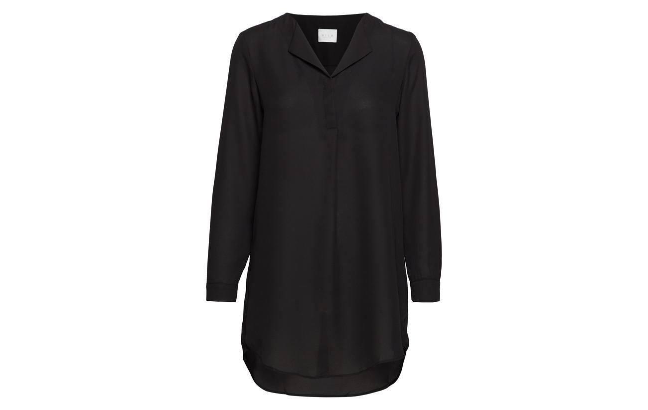 Vila Black Vilucy 100 L Tunic Polyester s Noos XXSrqd