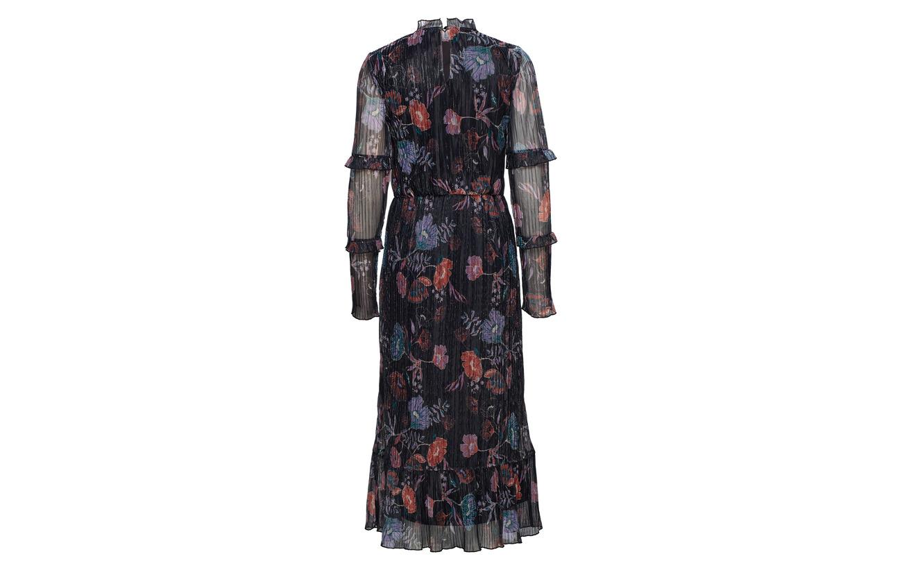 Polyester L Midi s Vijasmine Vila Black 100 Cc Dress aw8p5Hv1q