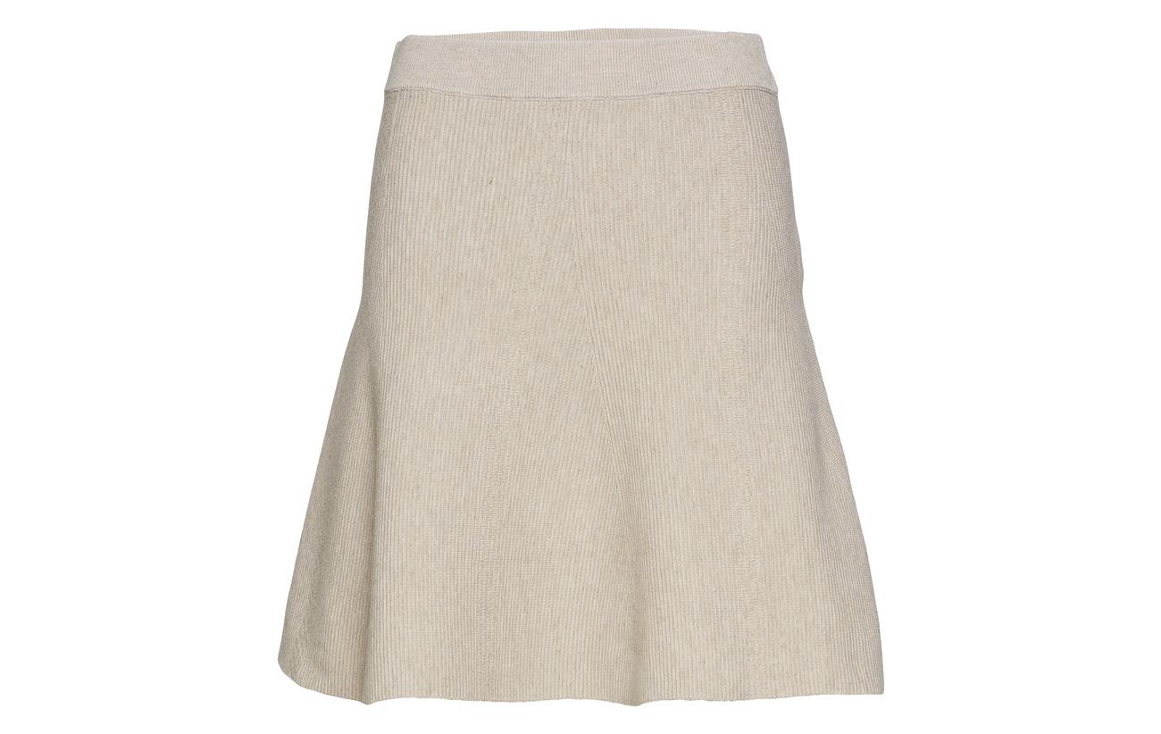 Skirt Melange Nylon 88 Knit Polyester Violivana Grey Dark 12 Vila UqTBW