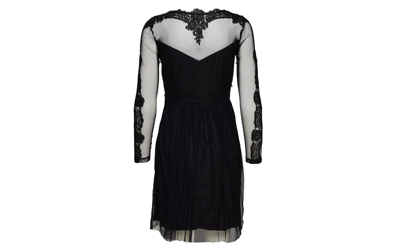 Black Vigeorgious Vila 1 Bone 100 Dress L s npnvSTB