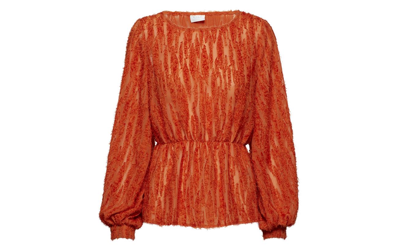 Top Orange Polyester s com L 100 rx Vibasta Vila OwCP4