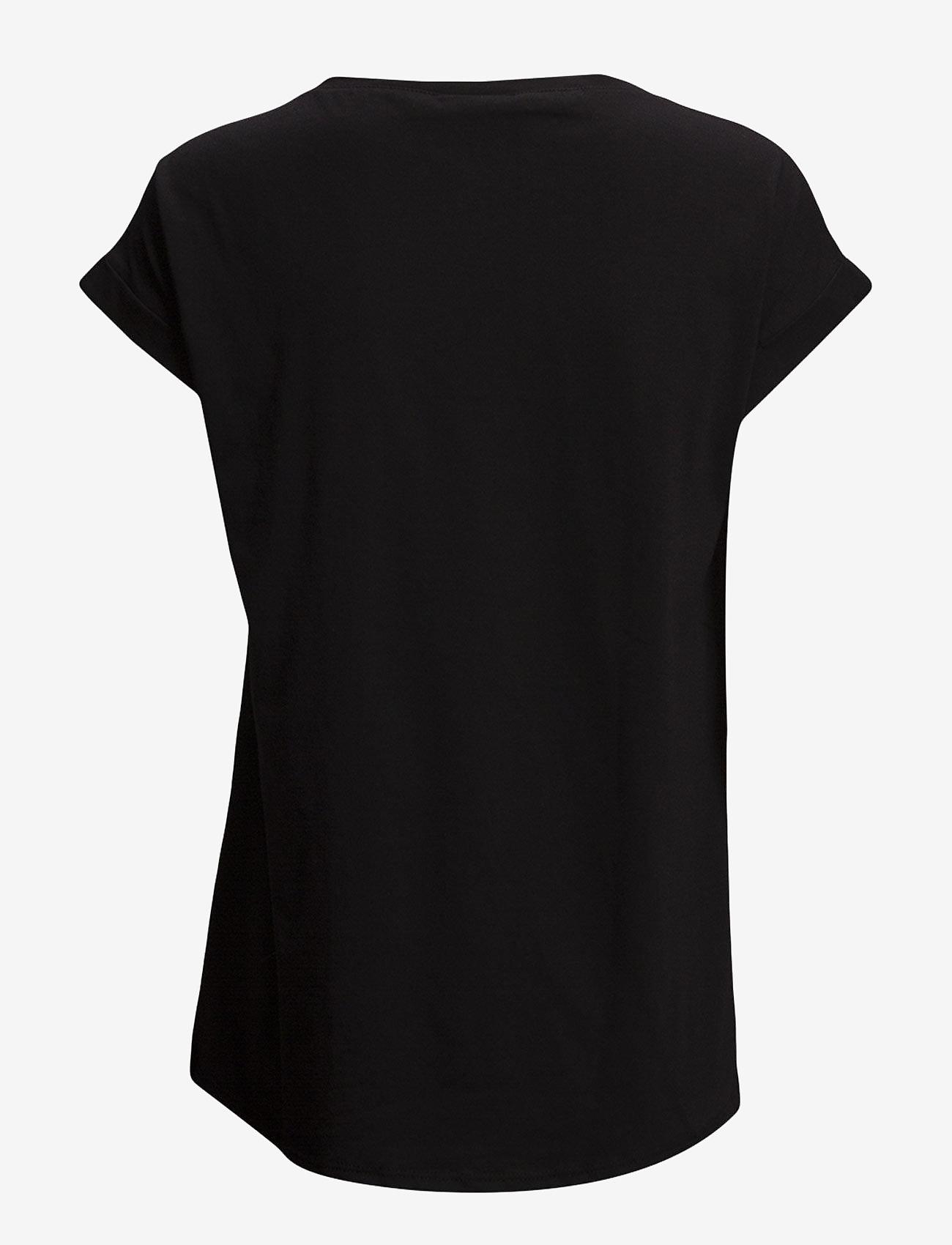 Vila - VIDREAMERS PURE T-SHIRT-NOOS - basic t-shirts - black - 1