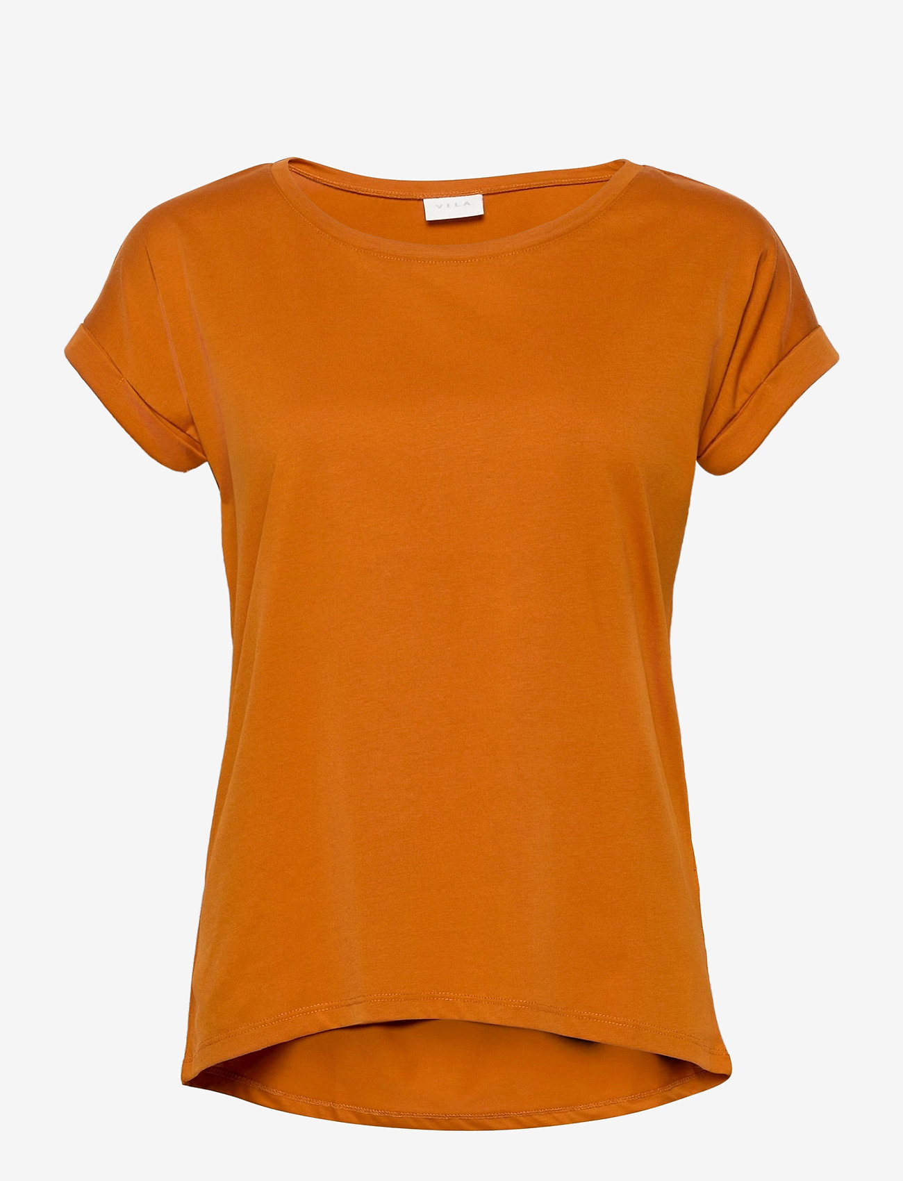 Vila - VIDREAMERS PURE T-SHIRT-NOOS - t-shirts - pumpkin spice - 0