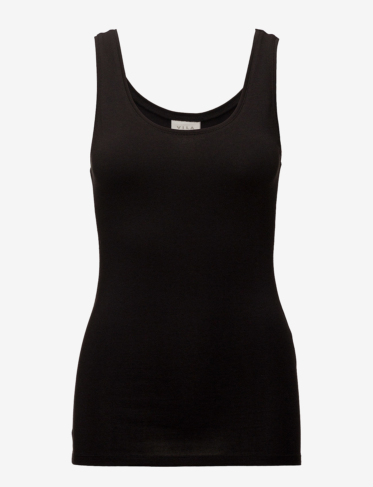 Vila - VIOFFICIEL NEW TANK TOP - NOOS - sleeveless tops - black - 0