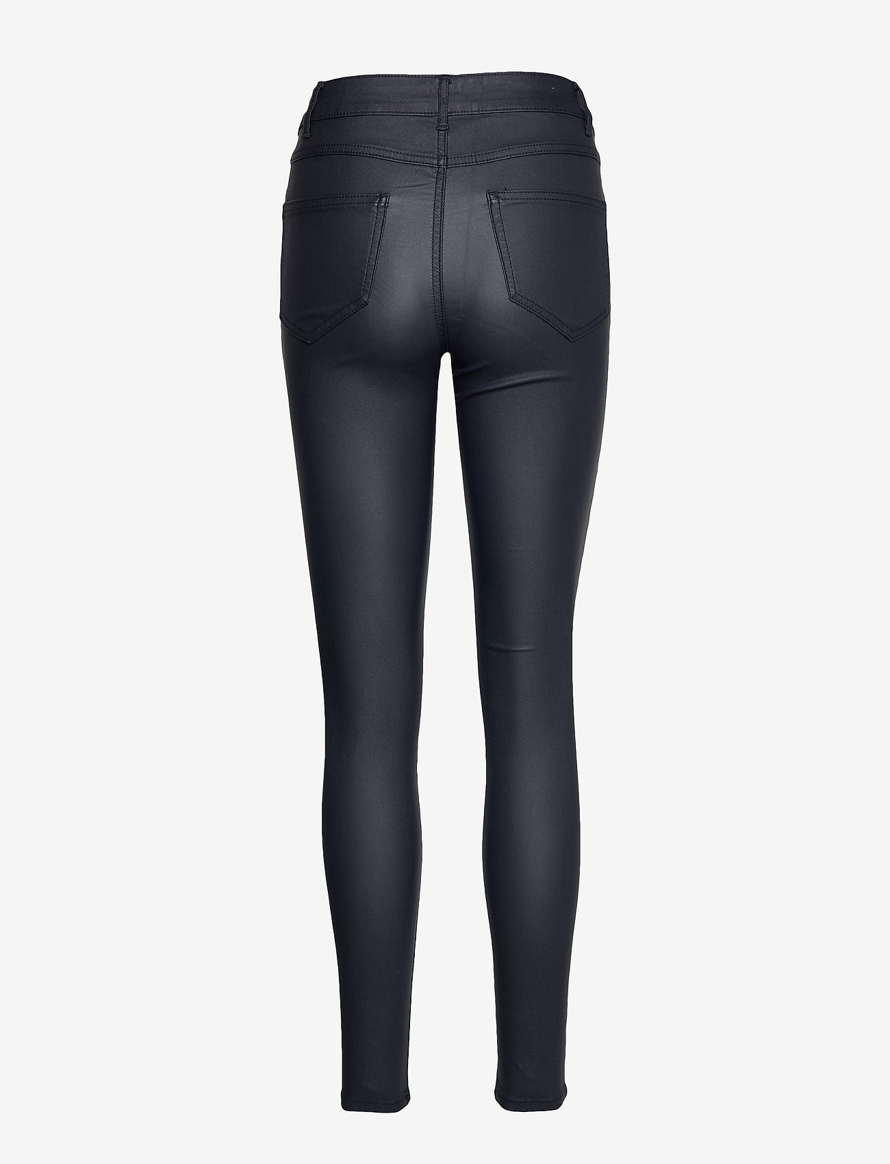 Vila - VICOMMIT COATED RWSK NEW PANT-NOOS - trousers with skinny legs - total eclipse - 1