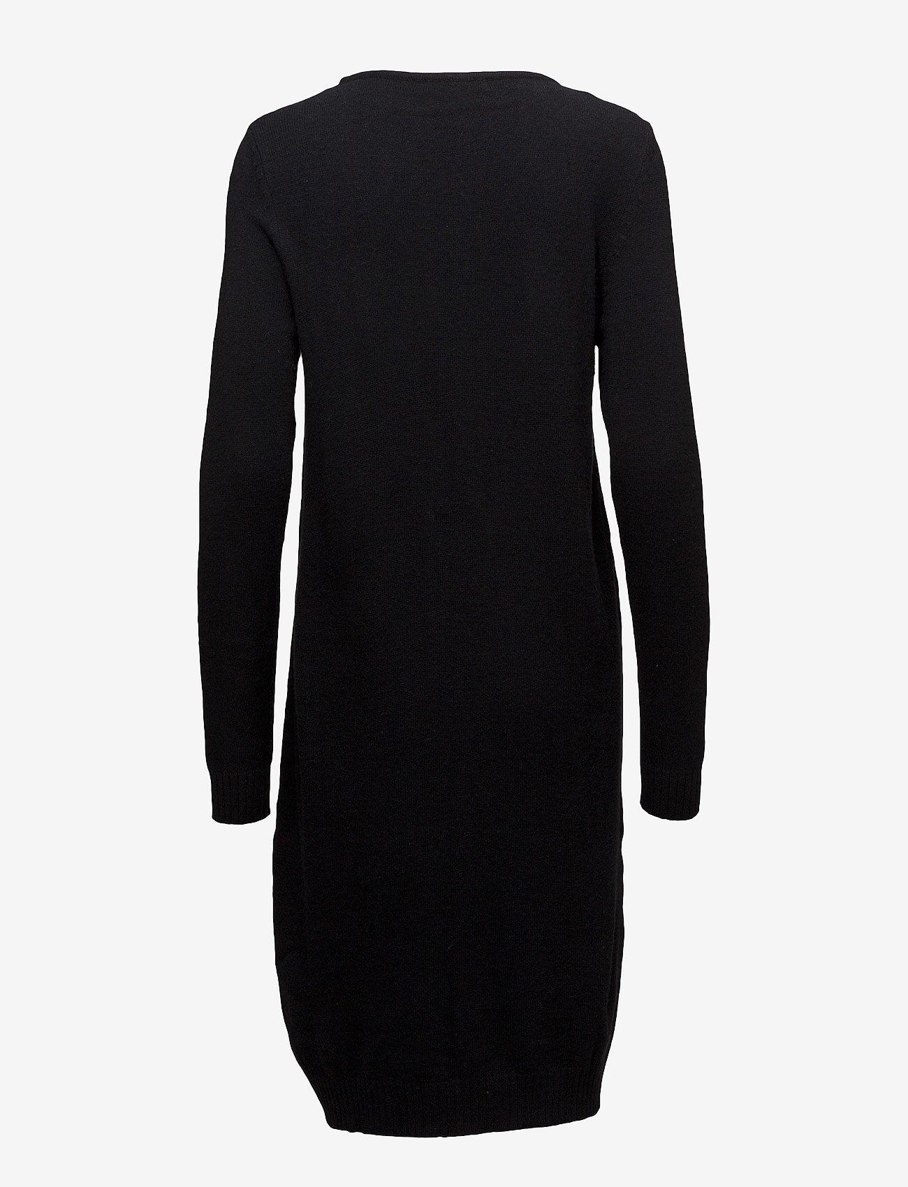 Vila - VIRIL L/S KNIT DRESS - NOOS - strikkede kjoler - black - 1
