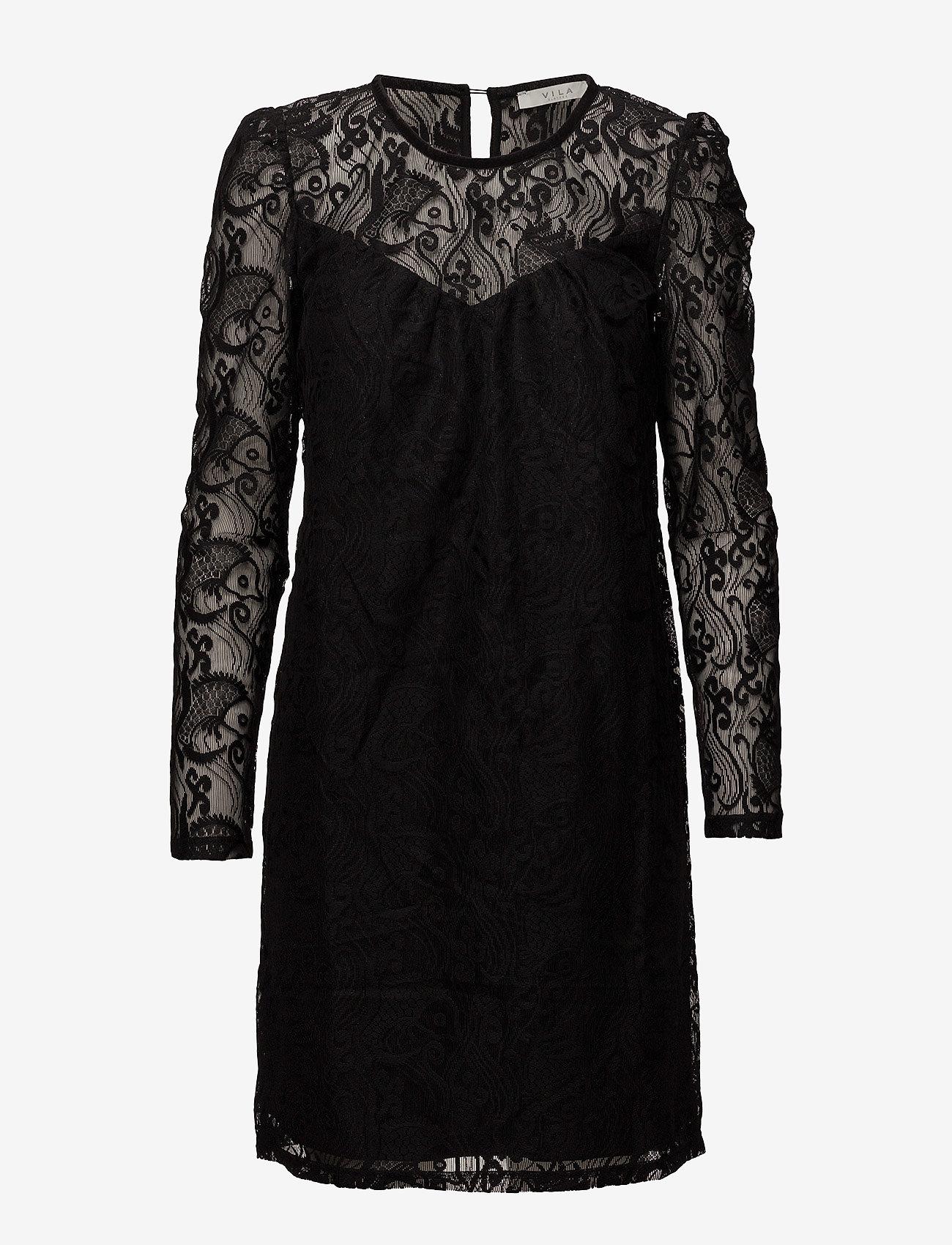 Vila - VITELL DRESS - short dresses - black - 0