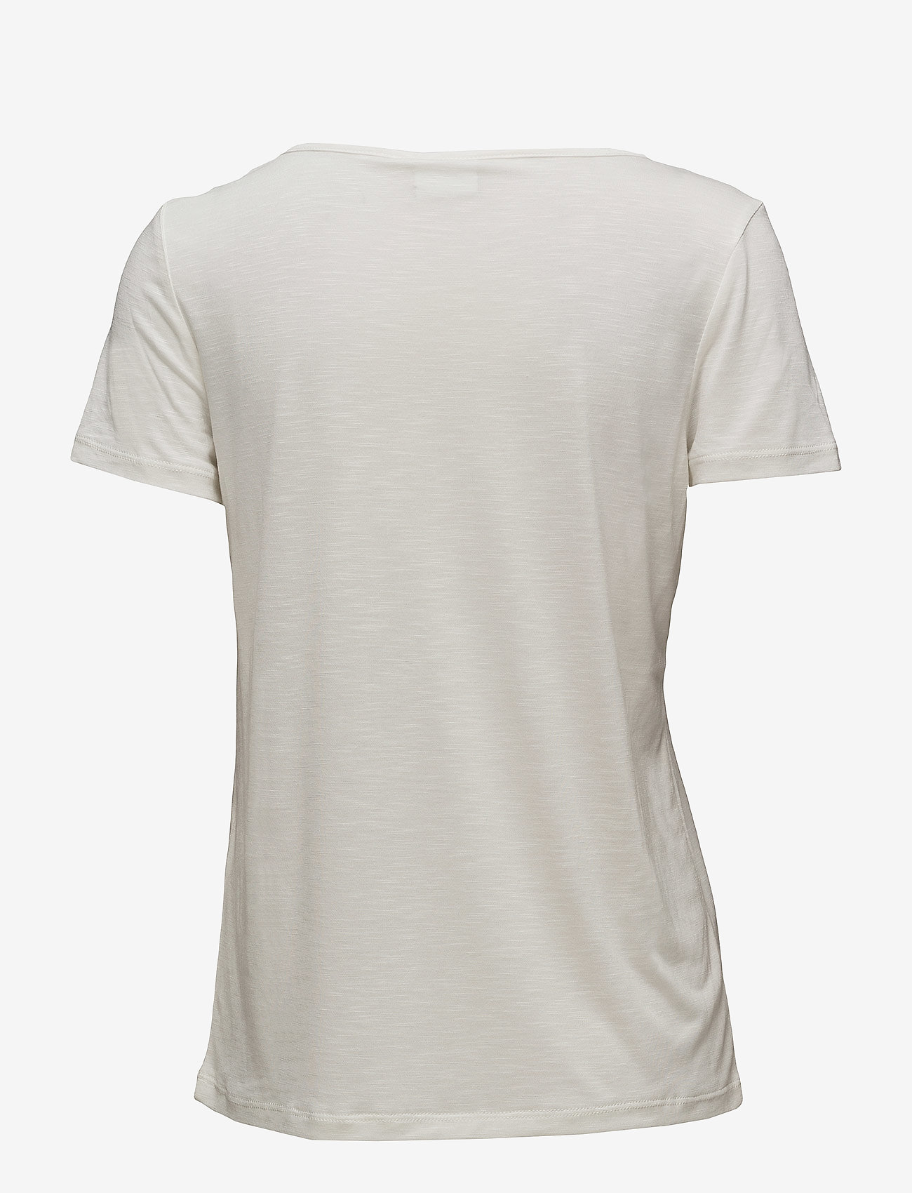 Vila - VINOEL S/S V-NECK T-SHIRT-NOOS - t-shirts - cloud dancer - 1