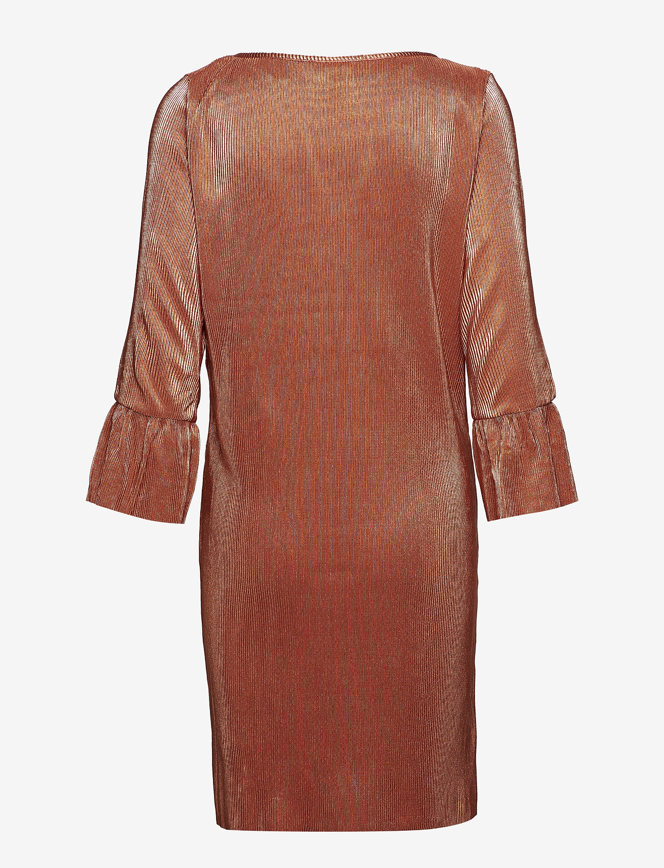 Vila - VIPARTA 3/4 DRESS - midi dresses - redwood - 1