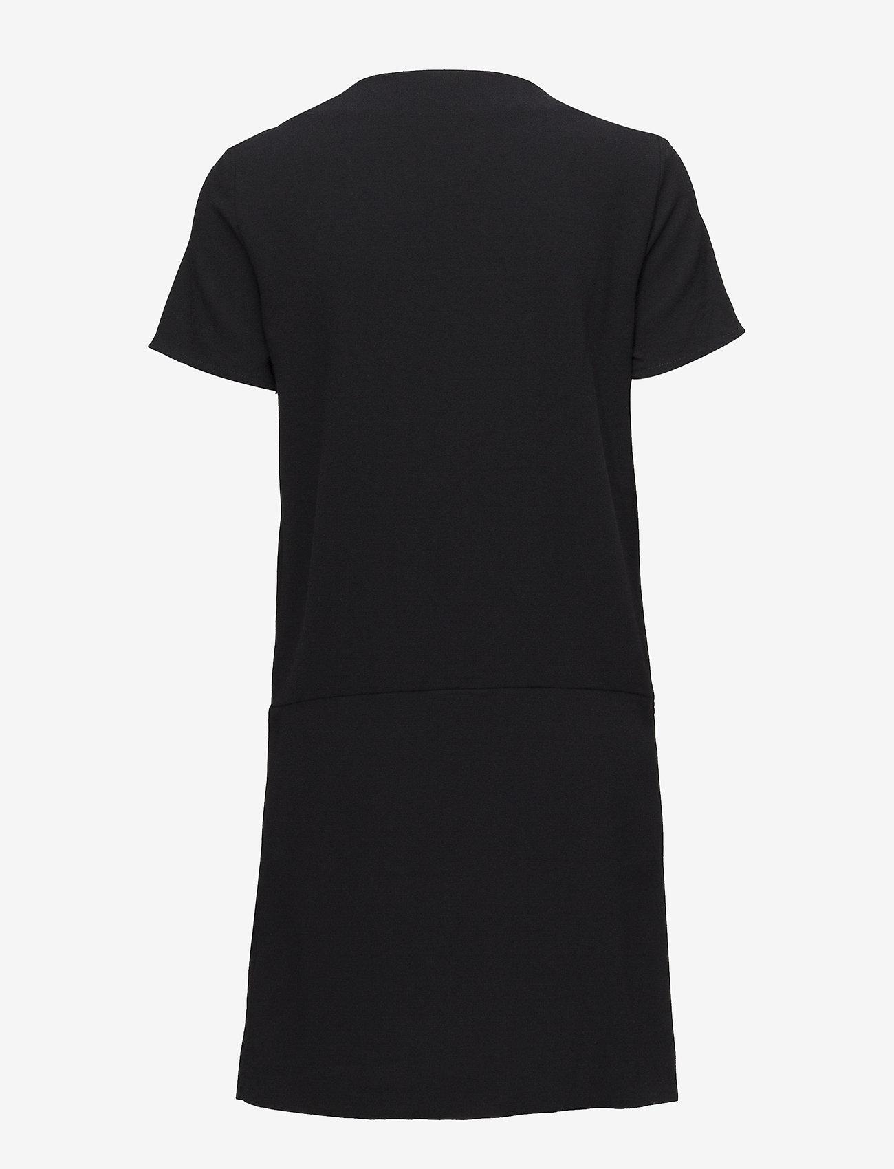 Vila - VIDIVA S/S SHORT DRESS C1 - wrap dresses - black - 1