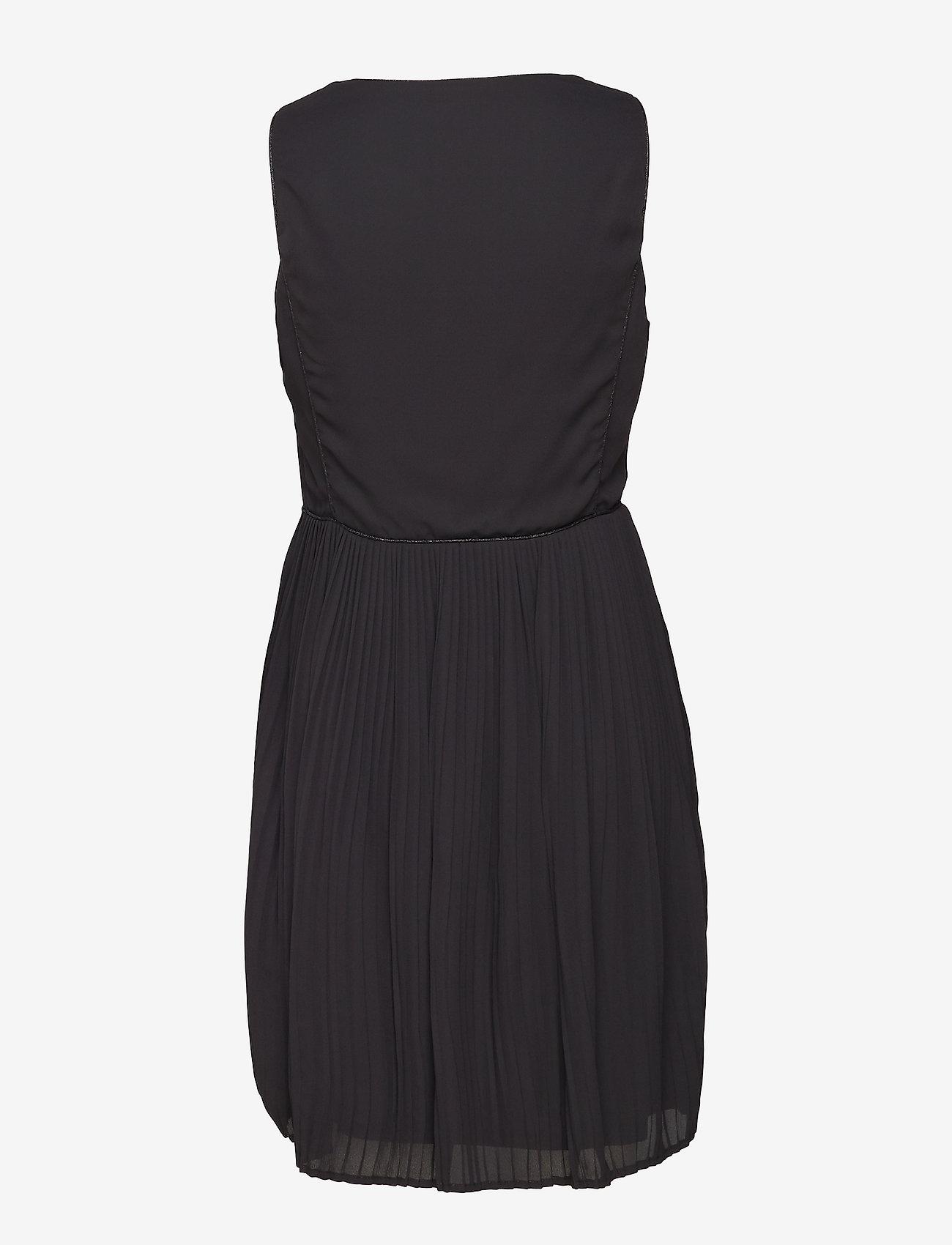 Vila - VILILLA S/L DRESS - midi dresses - black - 1