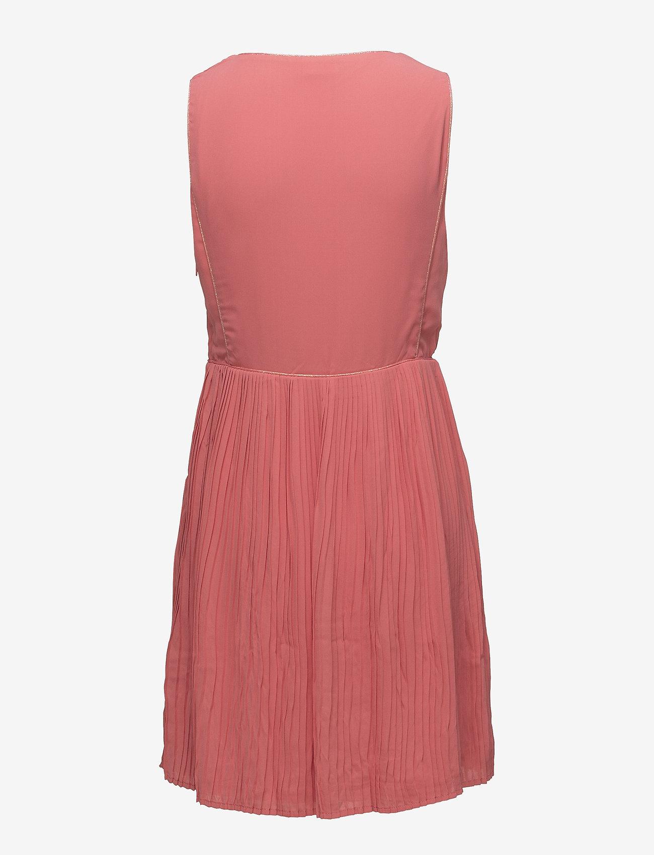 Vila - VILILLA S/L DRESS - midi dresses - spiced coral - 1