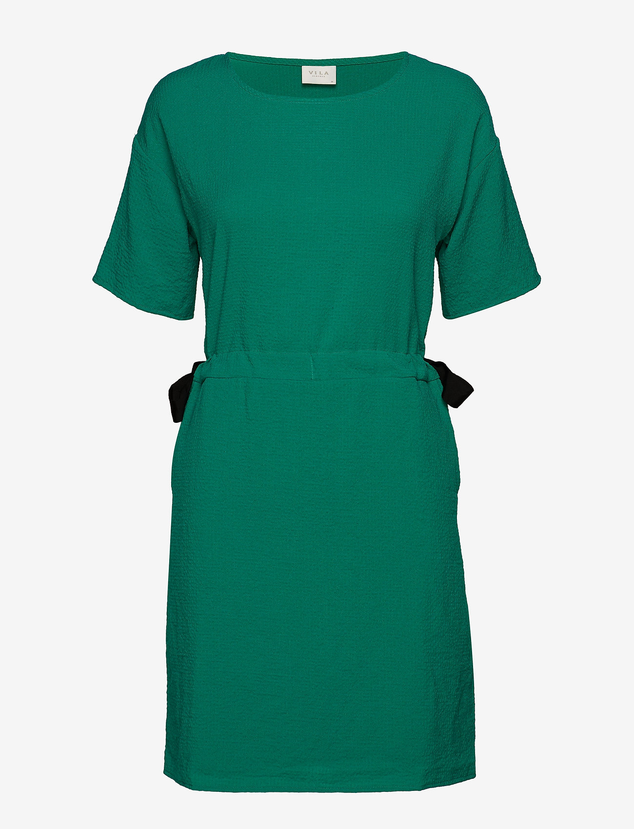 Vila - VILAMIDA 2/4 DRESS - short dresses - pepper green - 0