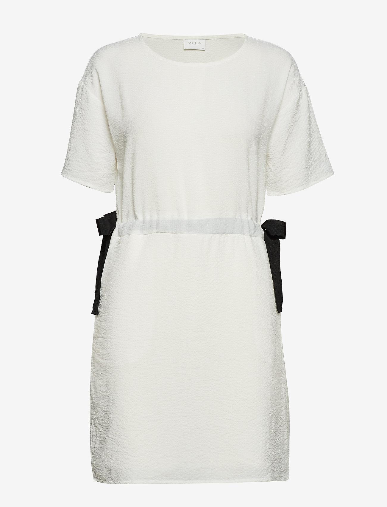 Vila - VILAMIDA 2/4 DRESS - short dresses - snow white - 0