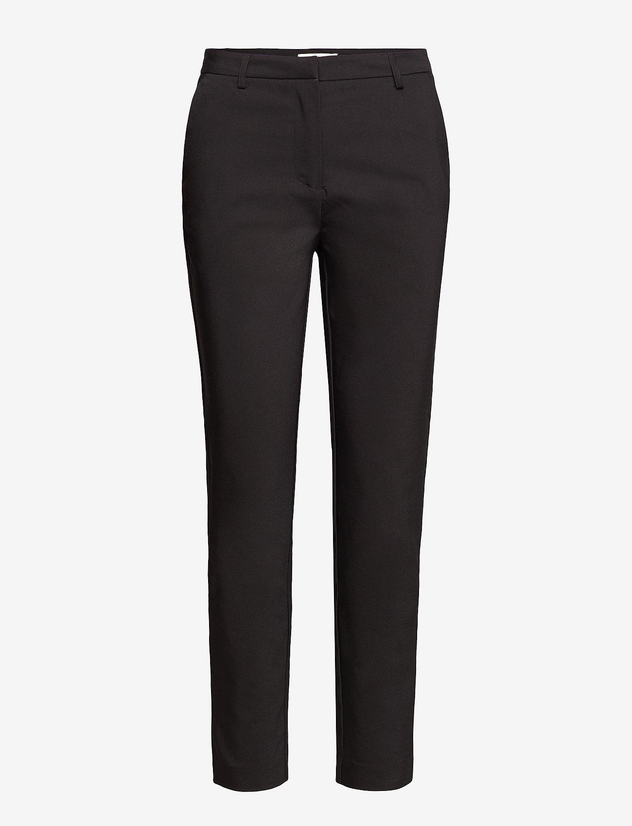 Vila - VIADELIA RWSL 7/8 NEW PANT-NOOS - straight leg trousers - black - 0