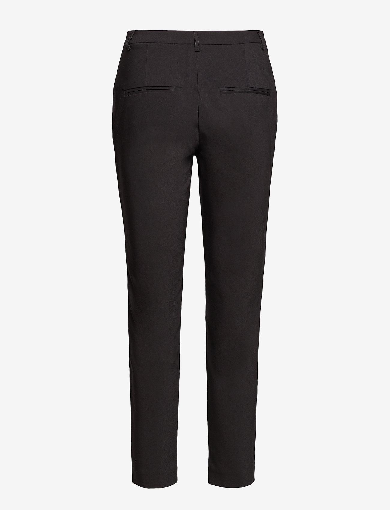 Vila - VIADELIA RWSL 7/8 NEW PANT-NOOS - straight leg trousers - black - 1