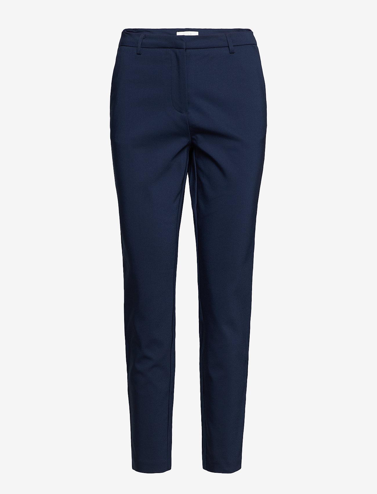 Vila - VIADELIA RWSL 7/8 NEW PANT-NOOS - straight leg trousers - navy blazer - 0