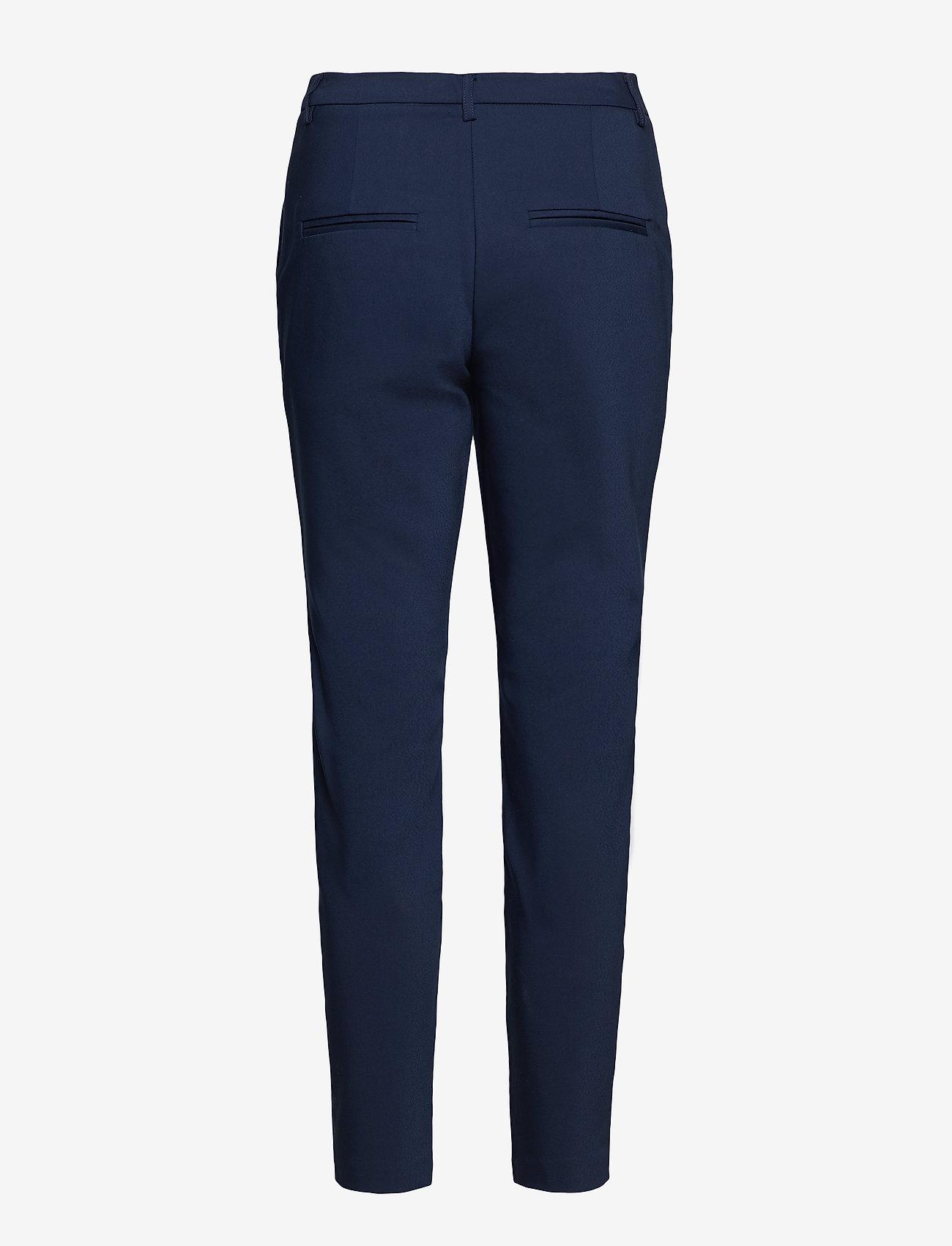Vila - VIADELIA RWSL 7/8 NEW PANT-NOOS - straight leg trousers - navy blazer - 1