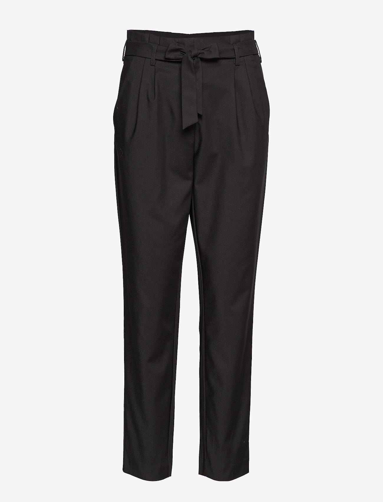 Vila - VISOFINA HWRE 7/8 PANT-NOOS - wide leg trousers - black - 0