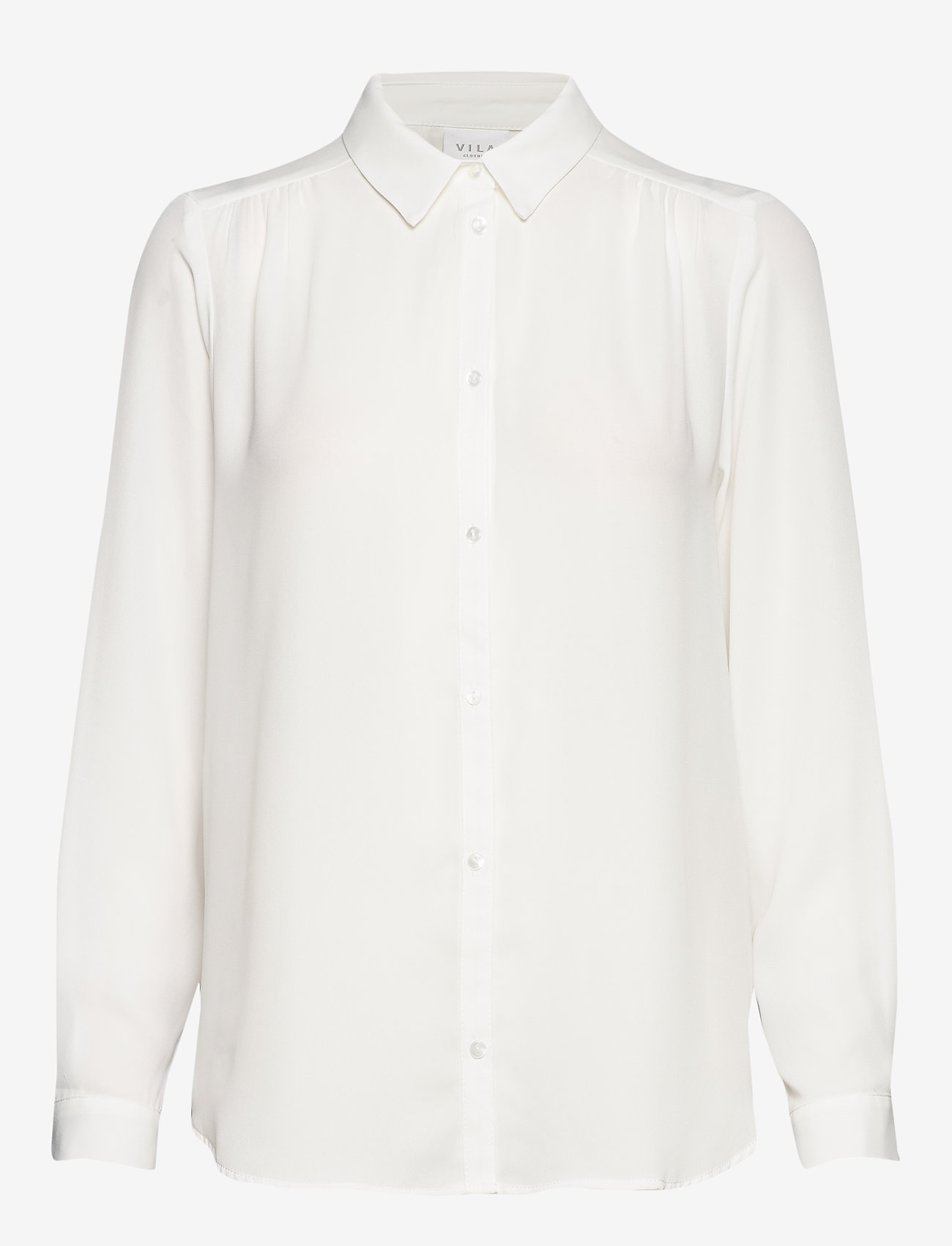 Vila - VILUCY L/S BUTTON SHIRT - NOOS - long-sleeved shirts - snow white - 0