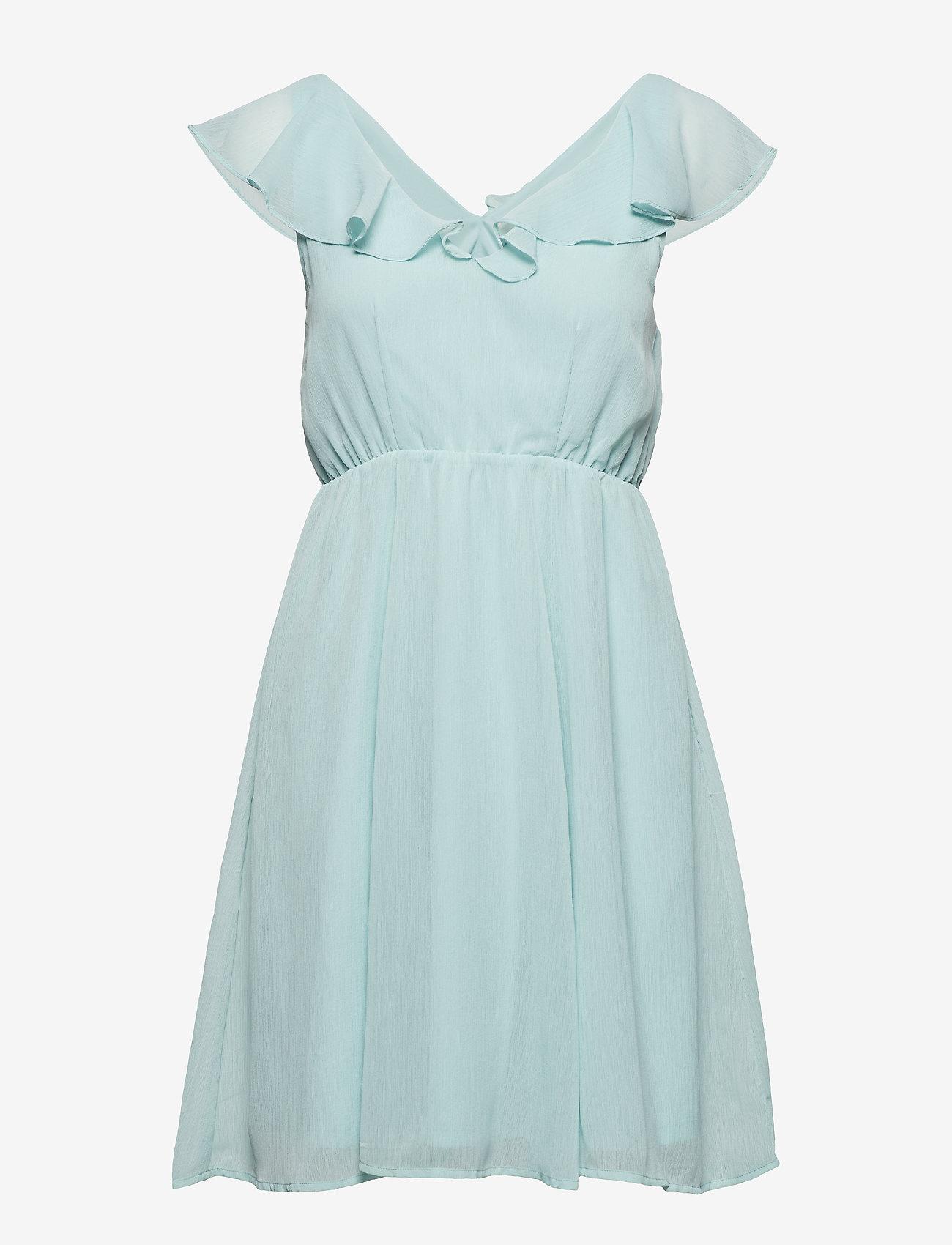 Vila - VIRANNSIL S/L SHORT DRESS/ZA - short dresses - blue haze - 0