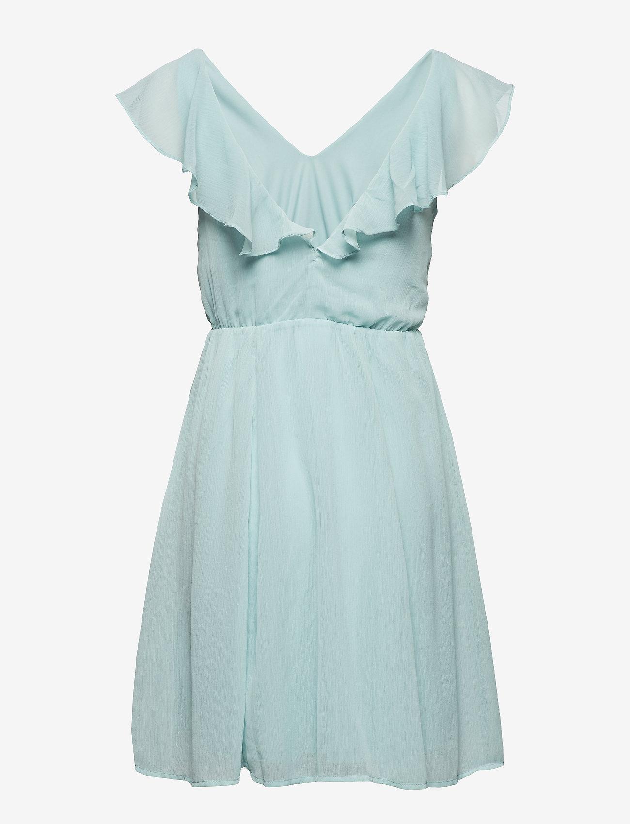 Vila - VIRANNSIL S/L SHORT DRESS/ZA - short dresses - blue haze - 1